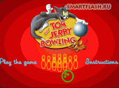 Скриншот флеш игры Tom and Jerry bowling