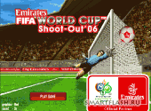 Скриншот флеш игры FIFA world cup shoot out 06