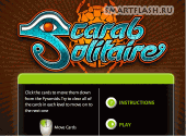 Скриншот флеш игры Scarab Solitaire