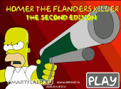 Скриншот флеш игры Homer the Flanders Killer. The Second Edition