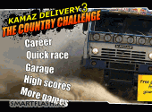 Скриншот флеш игры Kamaz Delivery 3: The Country Challenge